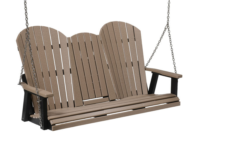 Chocolate and black colored 3 seat swing
