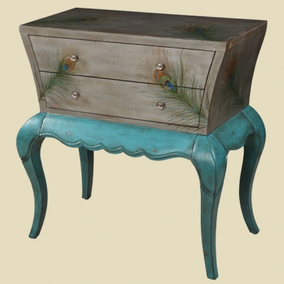 """""""Brittany"""" Peacock Feather Chest"""